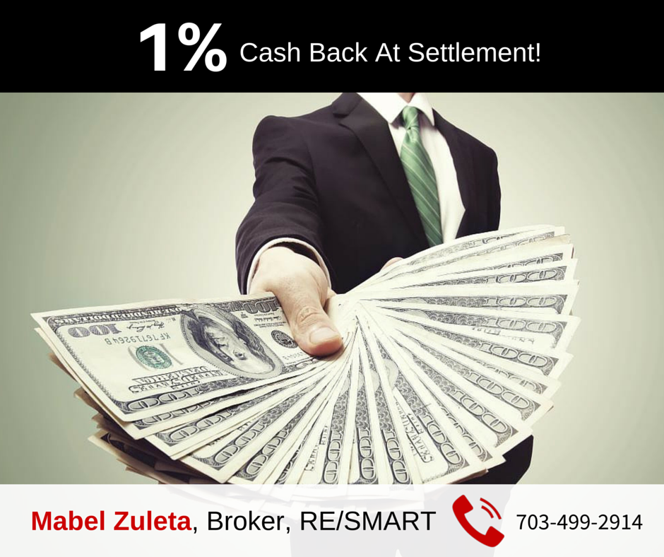 Get 1% CASH When Buying your Home!