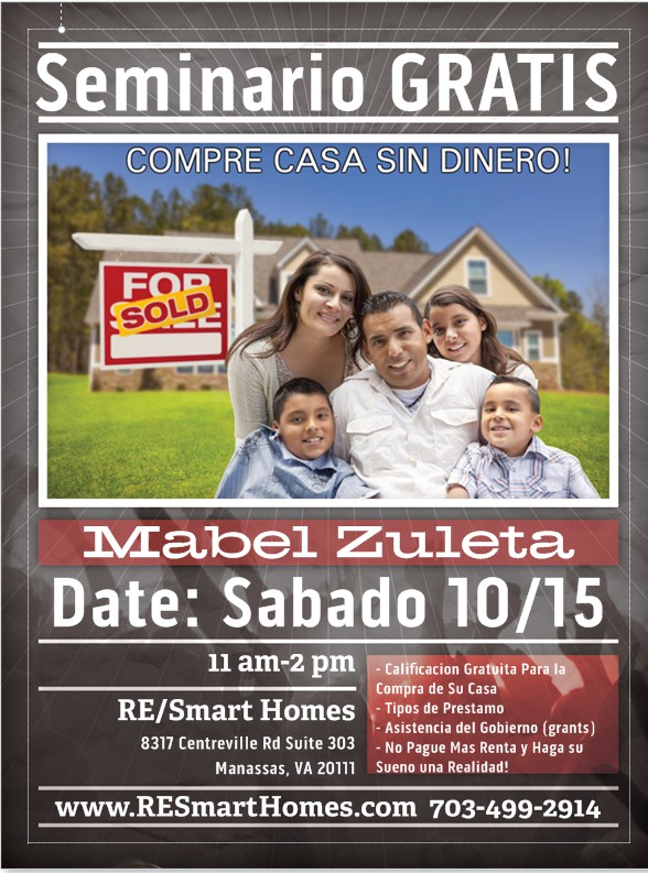 Home Buyer Seminar Tomorrow 10/15/16